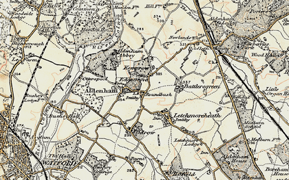 Old map of High Cross in 1897-1898