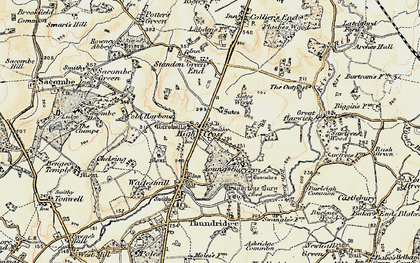 Old map of High Cross in 1898-1899