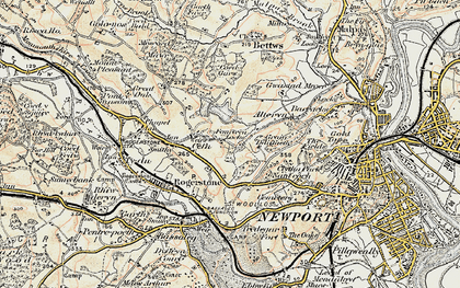 Old map of High Cross in 1899-1900