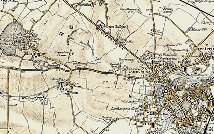 Old map of Wrangling Corner in 1899-1901