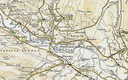 Old map of West Stotley in 1903-1904
