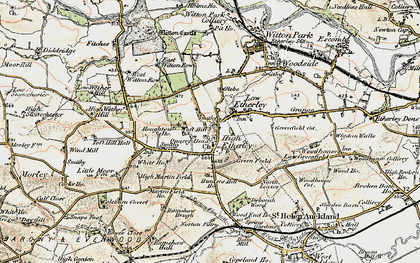 Old map of High Etherley in 1903-1904