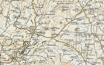Old map of Wilton Hills in 1903-1904