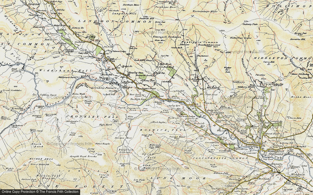 Old Map of Historic Map covering Wool Ingles in 1904