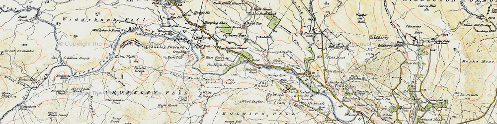 Old map of Wool Ingles in 1904