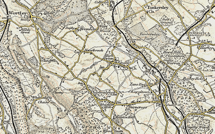 Old map of Westwood Country Park in 1903