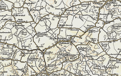 Old map of High Halden in 1897-1898