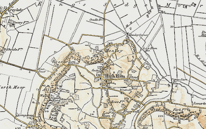 Old map of High Ham in 1898-1900