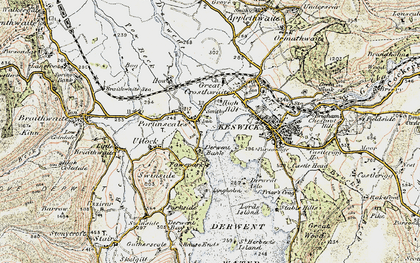 Old map of Lingholm in 1901-1904