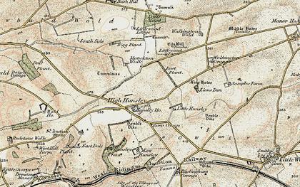 Old map of Lion's Den in 1903-1908