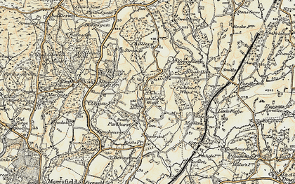 Old map of High Hurstwood in 1898