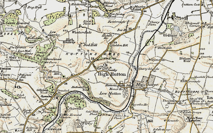 Old map of Westerdale in 1903-1904