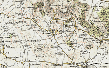 Old map of Acre Ho in 1903-1904