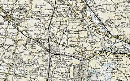 Old map of Wybersley Hall in 1902-1903