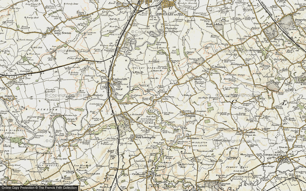 Old Map of Historic Map covering Leven Bridge in 1903-1904