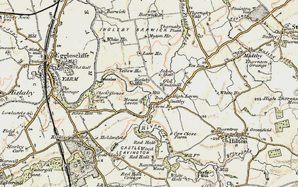 Old map of Leven Bridge in 1903-1904