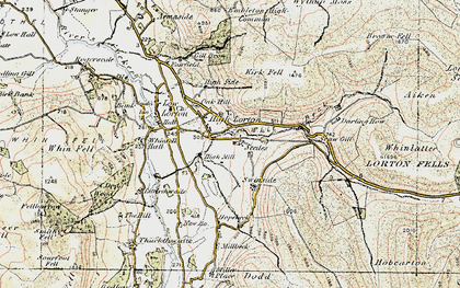 Old map of Aiken Beck in 1901-1904