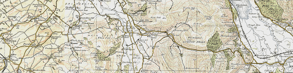 Old map of Widow Hause in 1901-1904