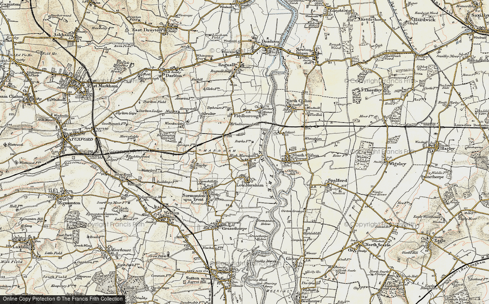 Old Map of High Marnham, 1902-1903 in 1902-1903