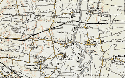 Old map of High Marnham in 1902-1903