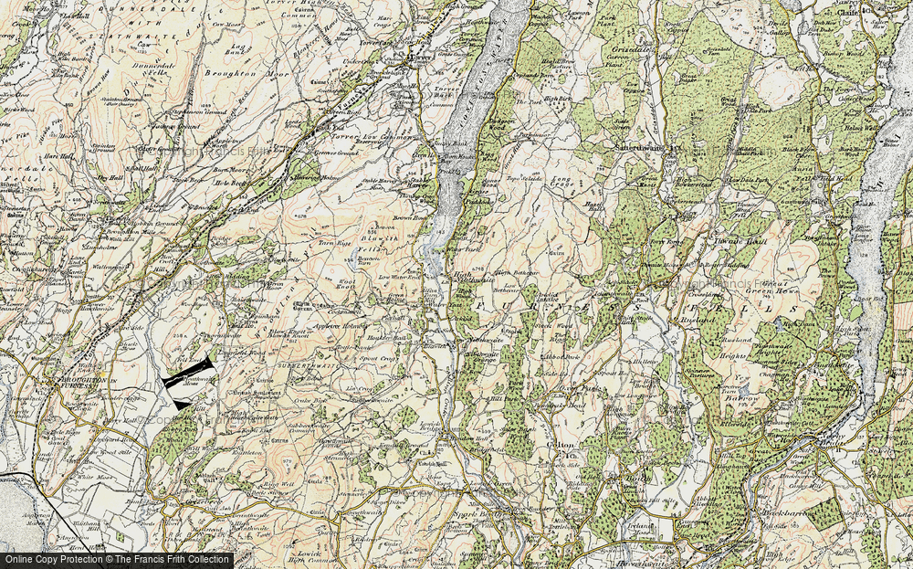 Old Map of Historic Map covering Allan Tarn in 1903-1904