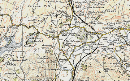 Old map of Ash-hining in 1903-1904