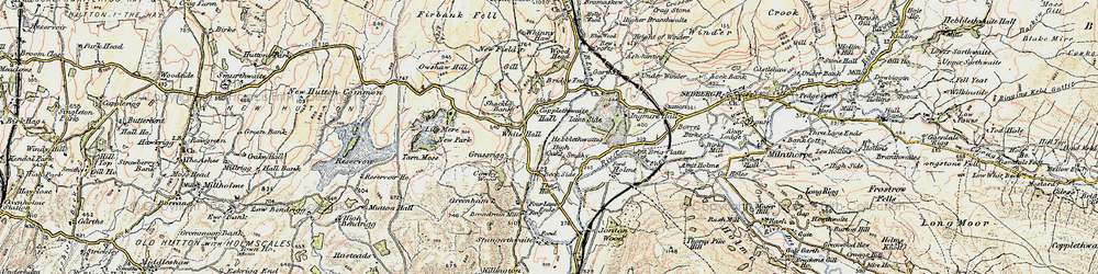 Old map of White Hall in 1903-1904