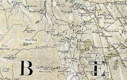 Old map of Bannest Hill in 1901-1904