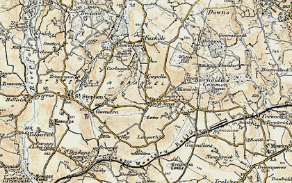 Old map of High Street in 1900