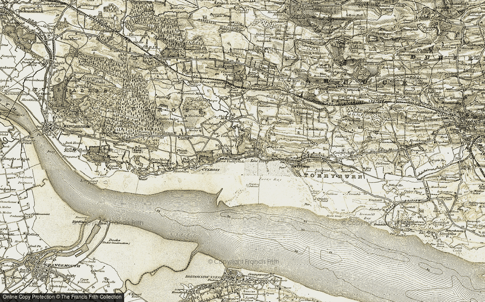 Old Map of Historic Map covering Woodhead in 1904-1906