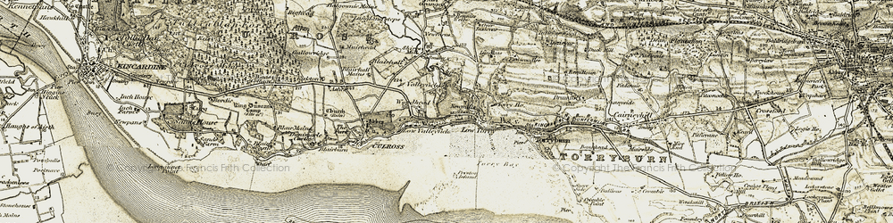 Old map of Woodhead in 1904-1906