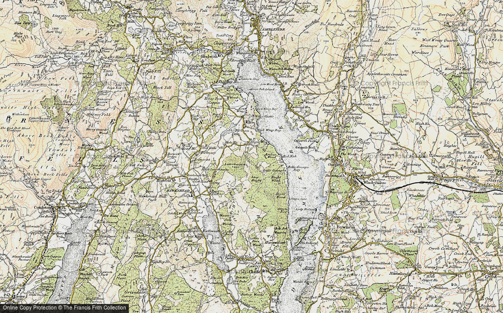 Old Map of Historic Map covering Balla Wray in 1903-1904