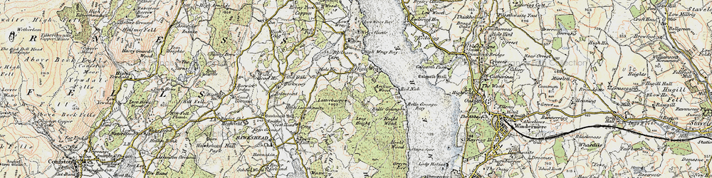 Old map of Balla Wray in 1903-1904