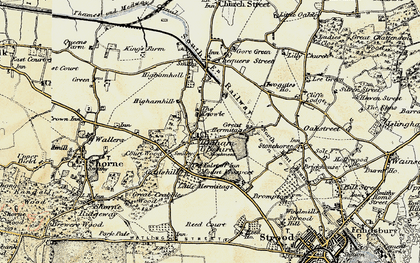 Old map of Higham in 1897-1898
