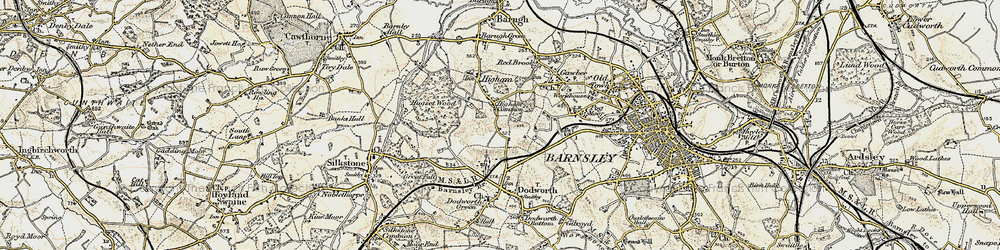 Old map of Higham Common in 1903
