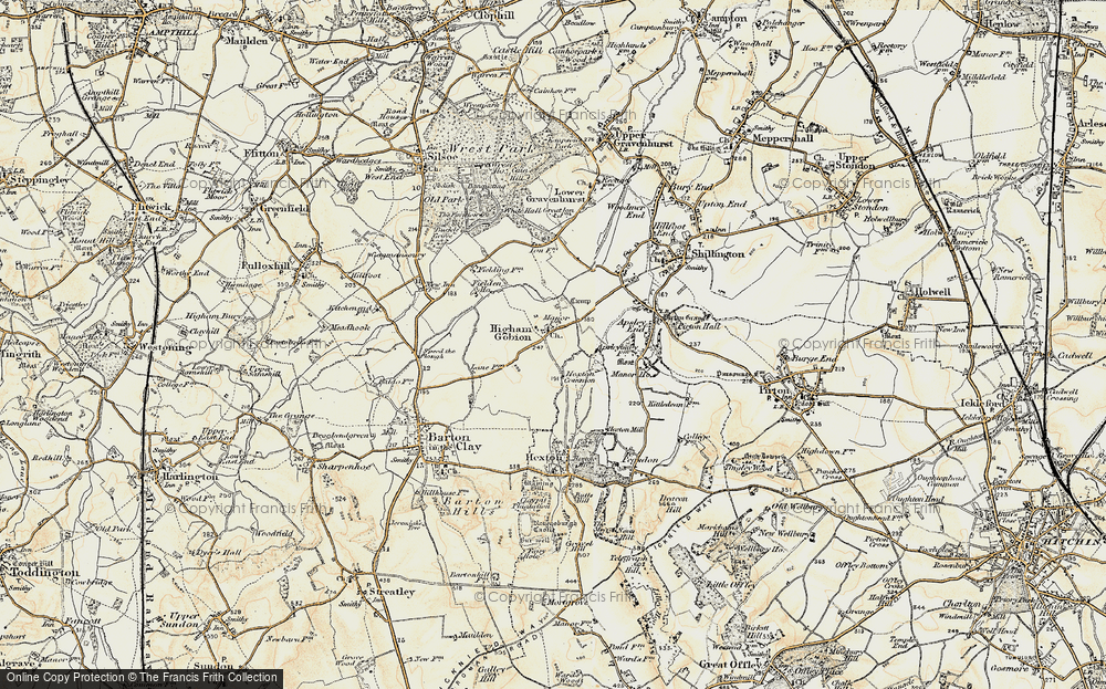 Old Map of Higham Gobion, 1898-1899 in 1898-1899