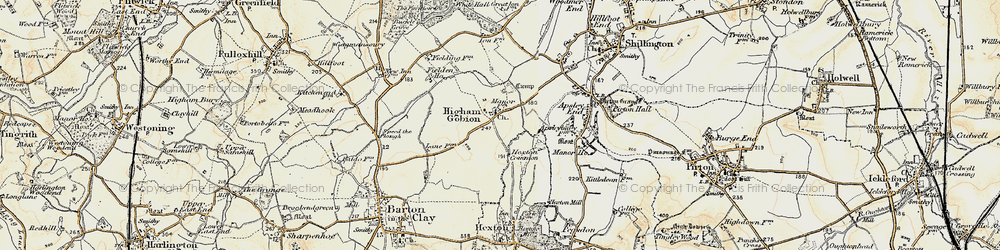 Old map of Westhey Manor in 1898-1899