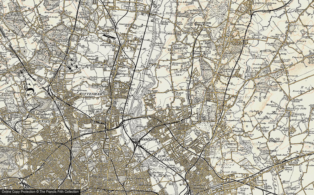 Old Map of Historic Map covering Banbury Resr in 1897-1898