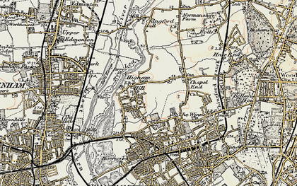 Old map of Banbury Resr in 1897-1898