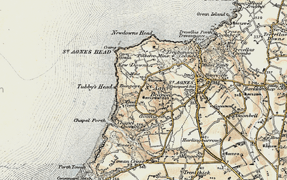 Old map of Higher Bal in 1900