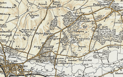 Old map of Higher Bockhampton in 1899-1909