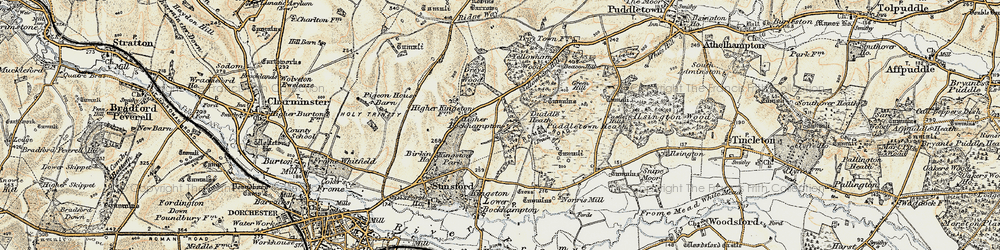Old map of Yellowham Wood in 1899-1909