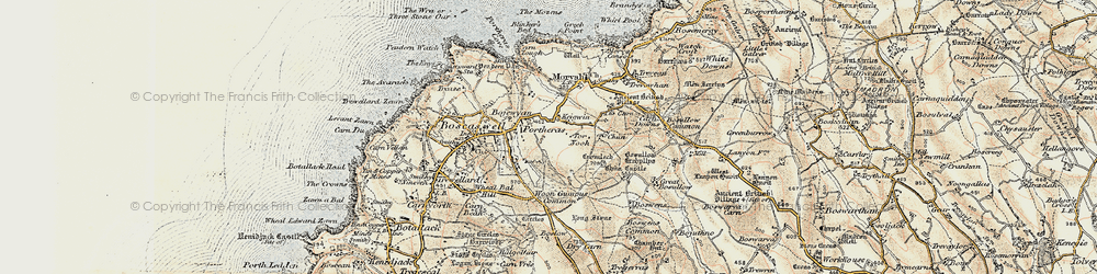 Old map of Woon Gumpus Common in 1900