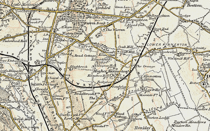 Old map of Babylon in 1902-1903