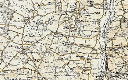 Old map of Tipton Cross in 1899