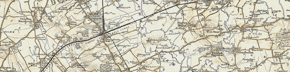 Old map of Abbey Ford Br in 1897-1909