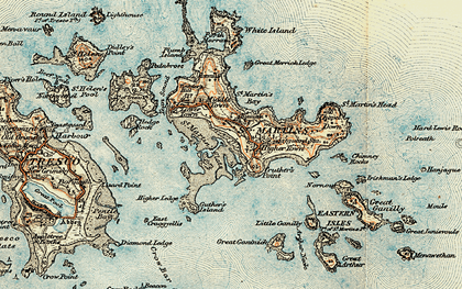 Old map of Eastern Isles in 0
