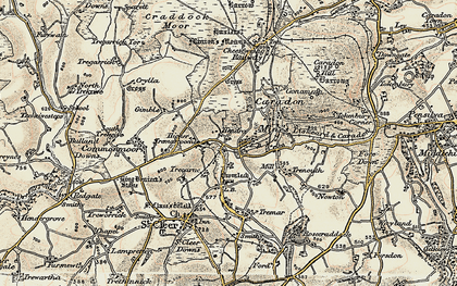 Old map of Higher Tremarcoombe in 1900