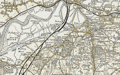 Old map of Higher Walton in 1902-1903