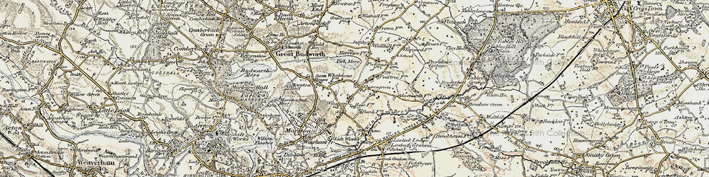 Old map of Wincham Hall (Hotel) in 1902-1903